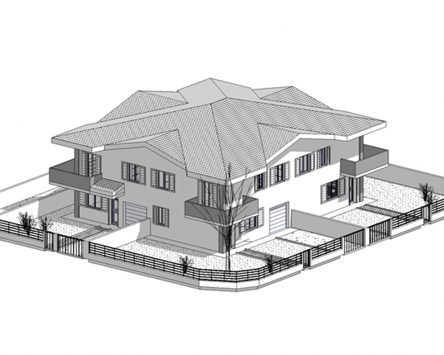 Progetti case piano terra casa con progetto di in olcio for Progetti ville a due piani